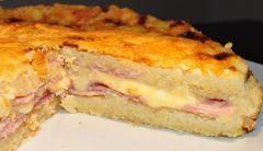 Fainá de jamón y queso con masa licuada