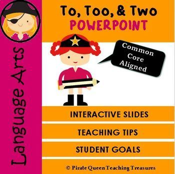 Can you ever have enough teaching activities for the homophones: to, too, two? Of course not! This Common Core aligned product (Grade 4 and up) is designed to teach and review the frustrating homophones-to, too, two. The PowerPoint introduces each homophone with a sample sentence, photo or