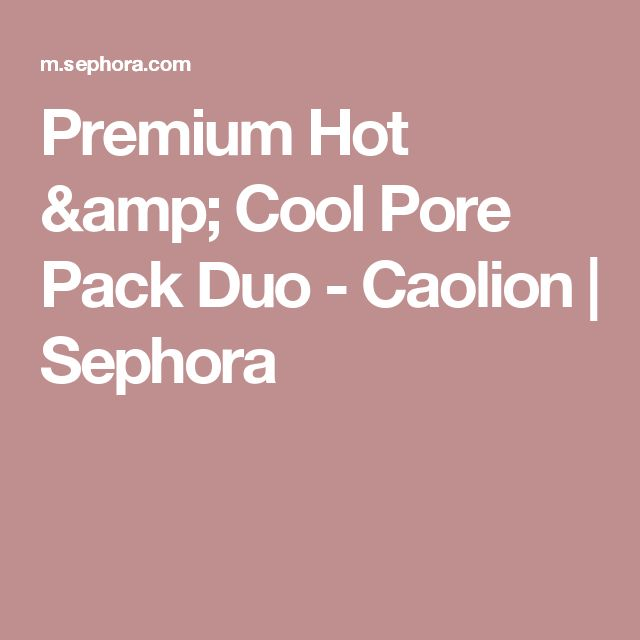 Premium Hot & Cool Pore Pack Duo - Caolion | Sephora