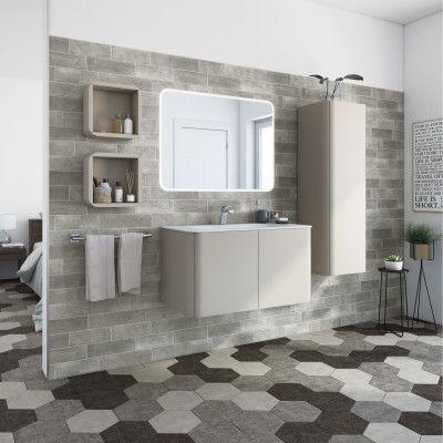 Bagno-Mobile bagno Liverpool grigio natura L 94 cm-35923650_thumb