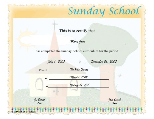 17 best images about sunday school certificates on pinterest