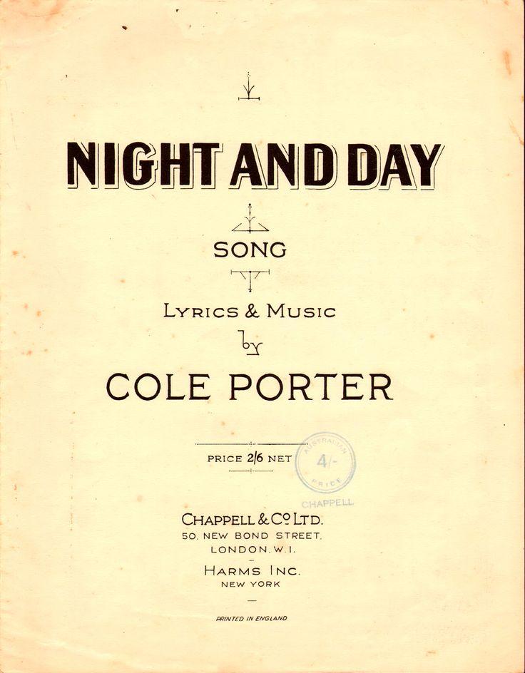 Lyric cole porter lyrics : 110 best Song Sheets 1930's images on Pinterest | Lyrics, Music ...
