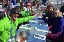 Enjoy fabulous lunches on the mountain.