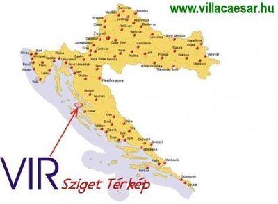 A #Vir #sziget #térkép abban lehet a segítségére, hogy megtudja, hogyan juthat el erre a szigetre autóval...