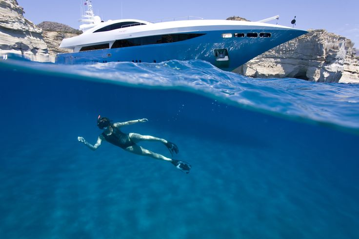 MY Barents Sea Yacht in Greece - Snorkeling