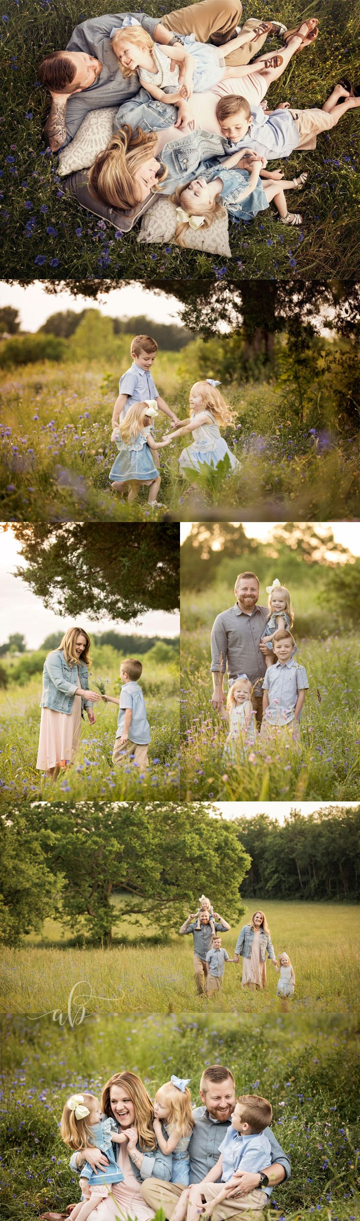 Knoxville and Gatlinburg family photographer | Alisha Bacon Photography A great mixture of posed and whimsical candid family pictures. Beautiful family poses!