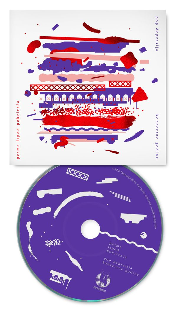 Pesme ispod pokrivaca • POP Depression Album Cover by Bratislav Milenkovic, via Behance
