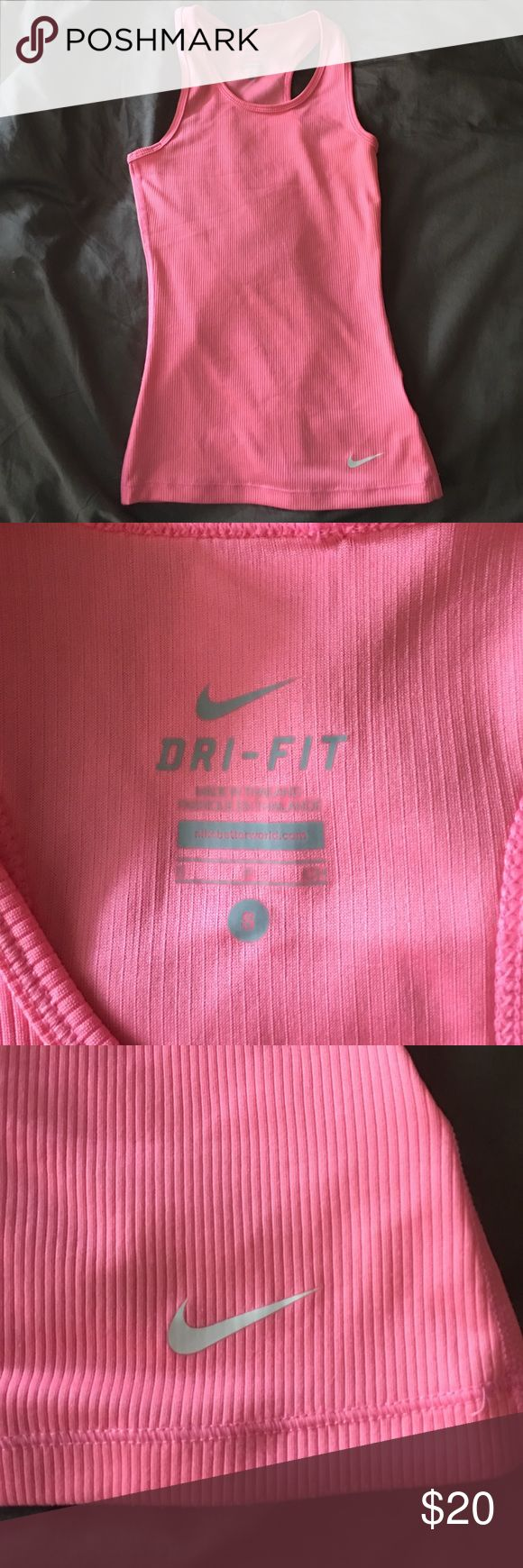 girls pink nike tank top girls size small, pink nike tank top Nike Shirts & Tops Tank Tops