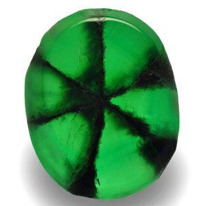 2.59-Carat Rich Green Trapiche Emerald with Clear Black Spokes