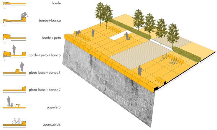 seccion tipo calle peatonal - Buscar con Google