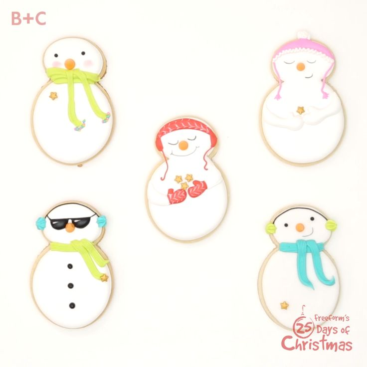 These frosty friends are *almost* too cool and too cute to eat.