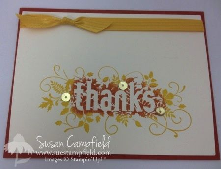 Two Tone Technique Fall Thank You Card