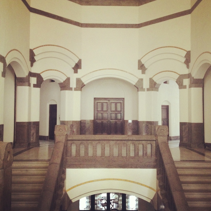 Lawang Sewu Building built in 1904 located in Semarang - Central Java...second floor showing how the building having a symmetrical designs...