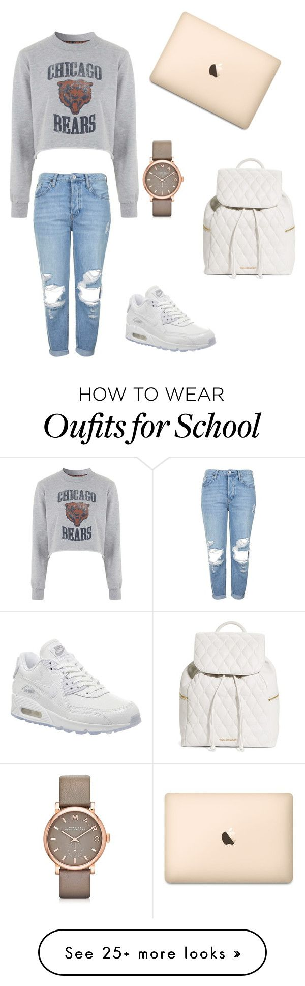 """""""School fit!"""" by missamani on Polyvore featuring Tee and Cake, Topshop, Marc by Marc Jacobs, NIKE and Vera Bradley"""