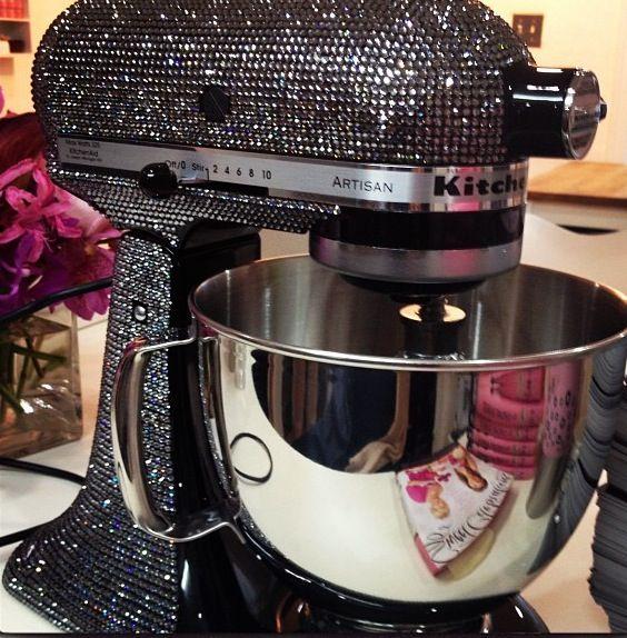 Blinged out KitchenAid mixer! Need.