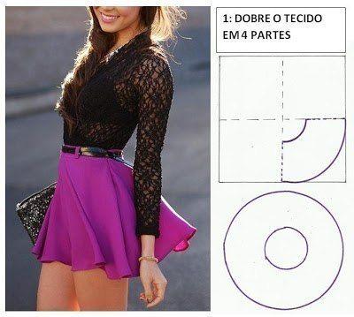 Ideas para hacer faldas de diferentes modelos05
