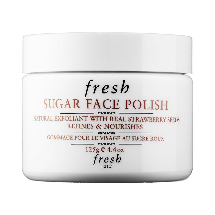 Shop Fresh's Sugar Face Polish at Sephora. This formula is made with real brown sugar and strawberries to exfoliate and hydrate.