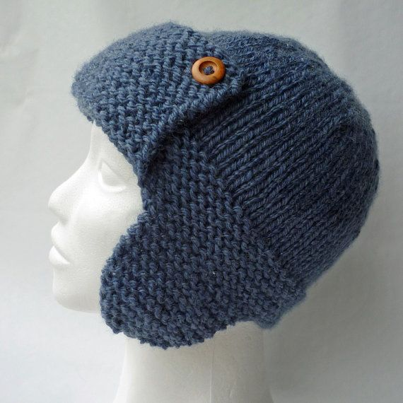 Knitting Pattern Aviator Hat CORY Child to Adult por LoveFibres