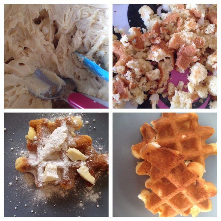 Wafels, recept, zelfrijzend bakmeel, vers fruit