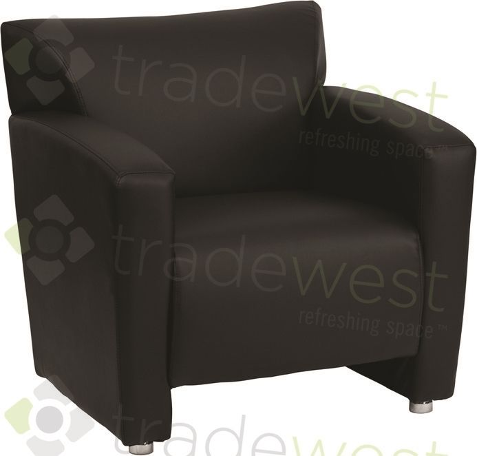 ENERGi - 807-1 Lounge Chair -Black Leather