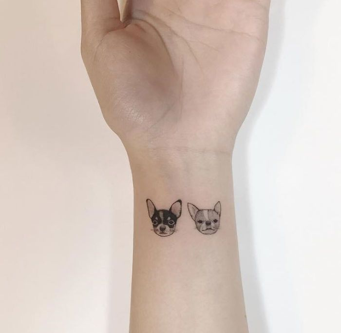 Cute And Minimalist Chihuahua Tattoos By Playground Tattoo