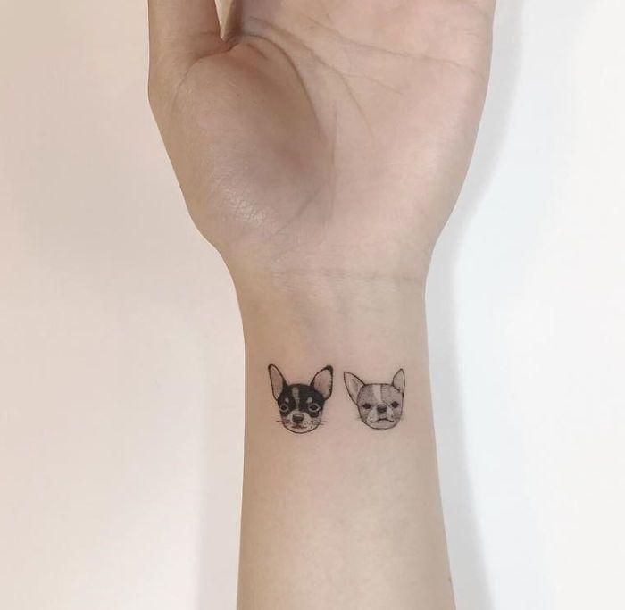 Cute And Minimalist Chihuahua Tattoos By Playground Tattoo