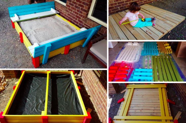 Grâce à de simples planches, construisez votre propre bac à sable