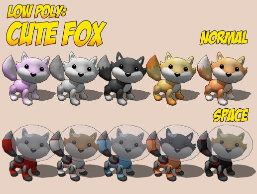 Cute Low Poly Fox Unity Asset Store Unreal Engine Unity