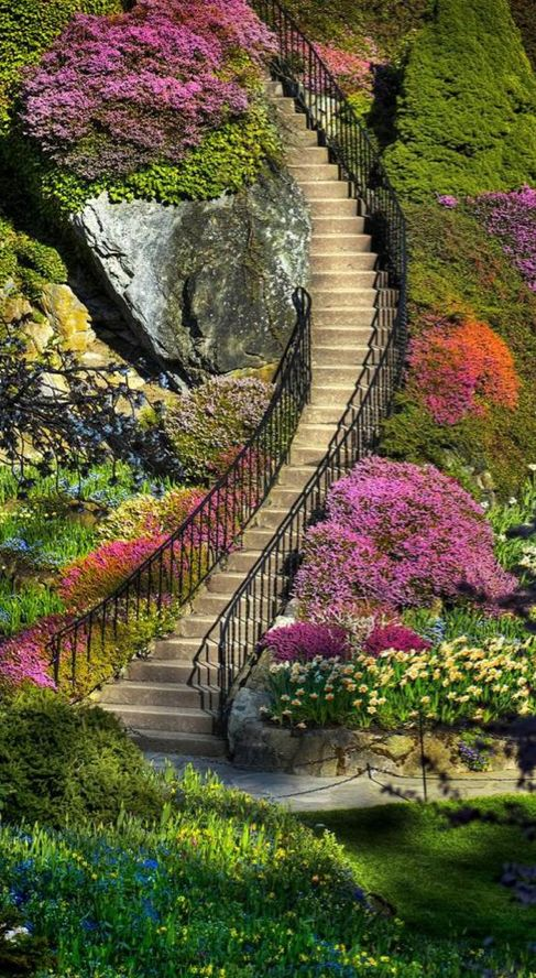 Butchart Gardens in Brentwood Bay (near Victoria) on Vancouver Island, British Columbia, Canada • photo: John Rogers on Flickr