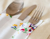 Set of 4 Tablemats with Cutlery Pouch / Kit de 4 Individuais com Bolsa para Talheres