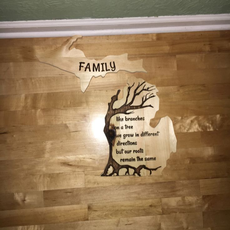 Excited to share the latest addition to my #etsy shop: Family Roots Michigan, Upper and Lower Peninsula, Wooden engraved sign, Wall decor, Family, Branches, Roots