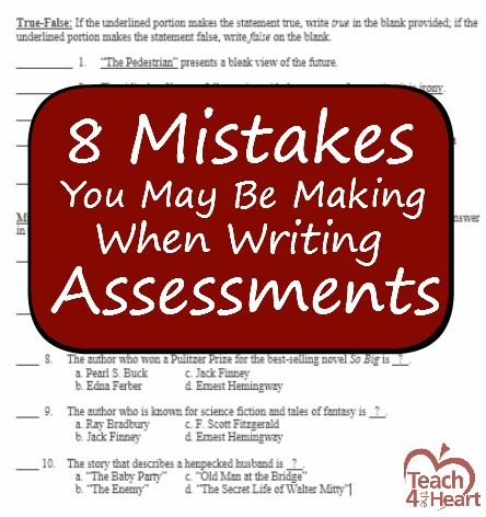 Don't let your tests be a frustration to your students! | Teach 4 the Heart