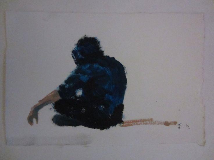 A boy in hood, oil study by STarnanen 2013