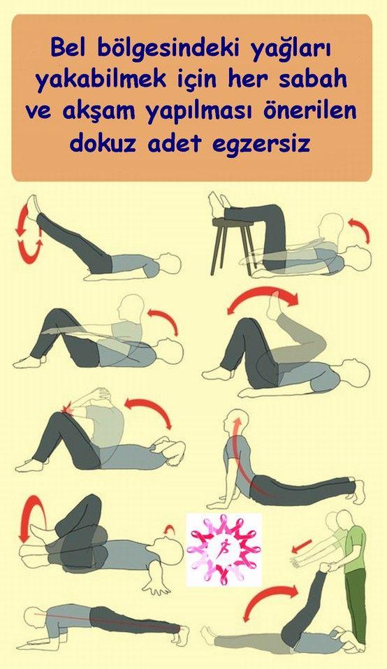 Bel Bölgesi Yağları için 9 Egzersiz