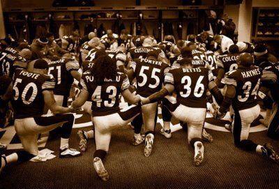 Steelers Locker Room Prayer Photo