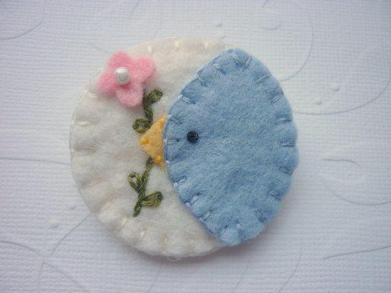 ******bluebird pin brooch