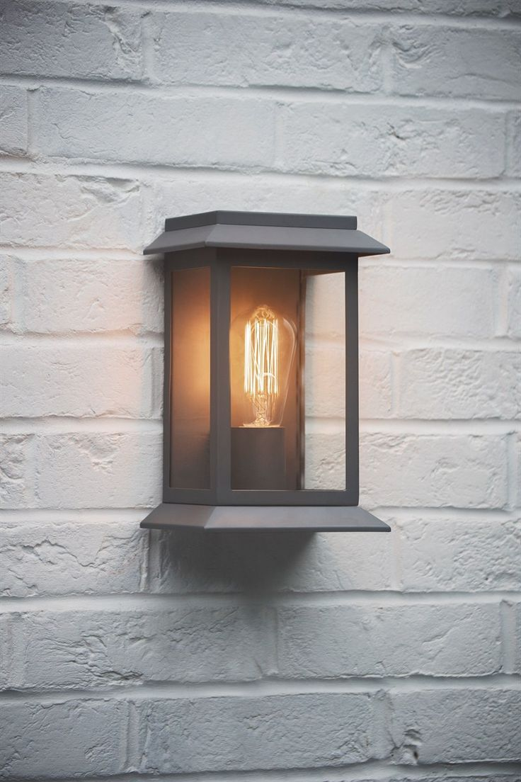grosvenor outdoor wall mounted porch light in charcoal the farthing 1