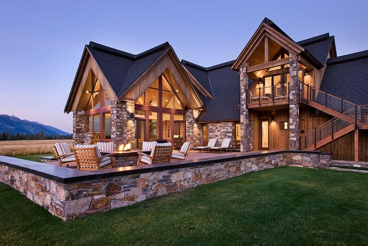 36 best custom homes images on pinterest jackson hole for Custom home builders wyoming