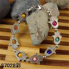HOT Free shipping New Tibet silver multicolor jade turquoise bead bracelet S62