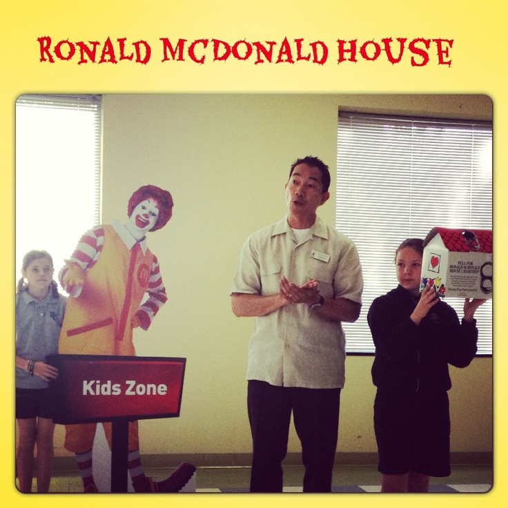 Learning about compassion, provision, and fundraising today in chapel as we focus on the Ronald McDonald House as this months outreach!