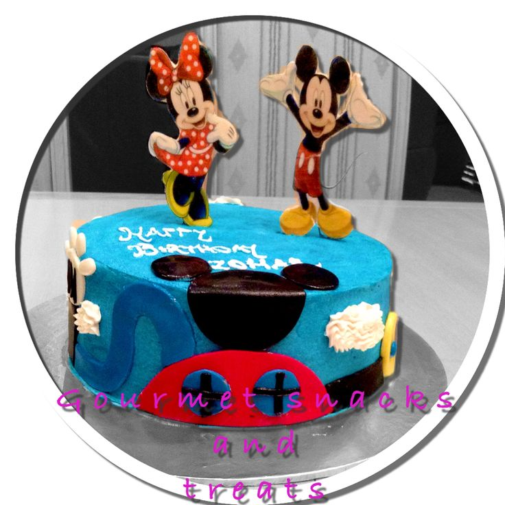 Mickey Mouse club house butter cream cake