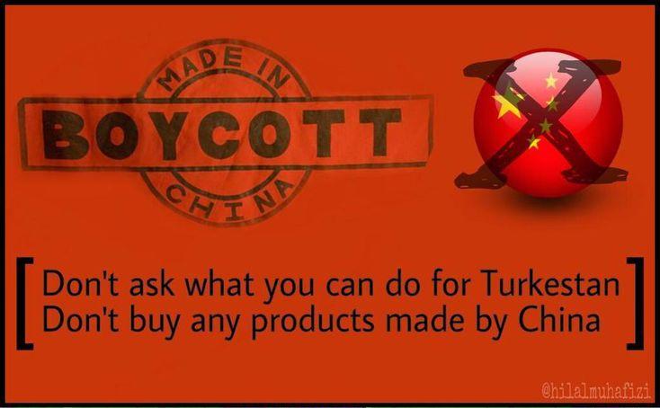 Elimden ne gelir deme! Made in China yazan hiç bir ürünü kullanma.. satın alma!! #StopTerrorismInChina