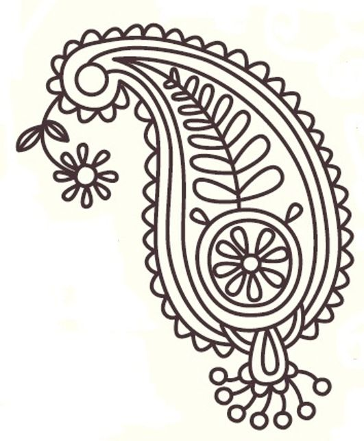 #14? Paisley Pattern Design   Royce's Hub: Free Embroidery Pattern : Paisley