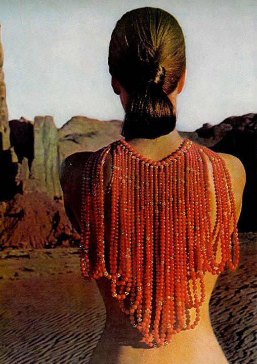 Marisa Berenson and Fiona Campbell, Walter John Cowan, Vogue January 1966