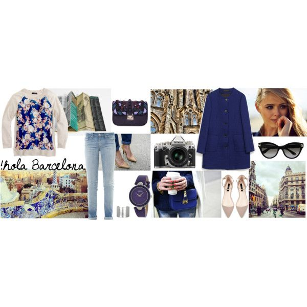 """Weekend in Barcelona"" by lelouka on Polyvore"