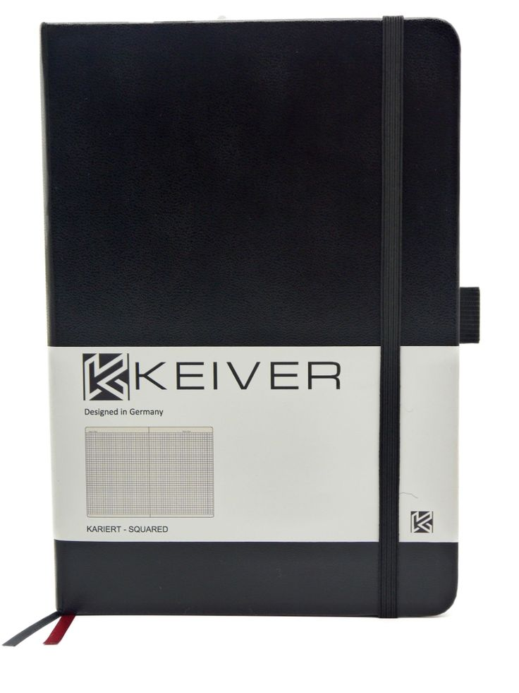 Notebook Black A5 checkered Increase productivity | productivity & time management  – Premium Bullet Journal Deutsch – KEIVER