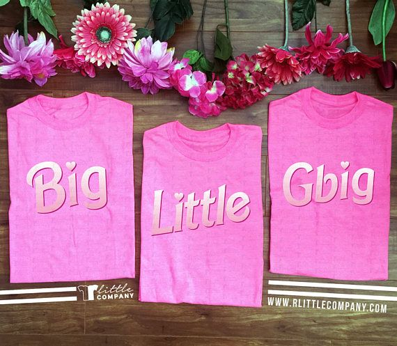 Big Little Extended Family Barbie Tshirts S-2XL // Big and Little Reveal // Sorority Shirts // Reveal Shirts