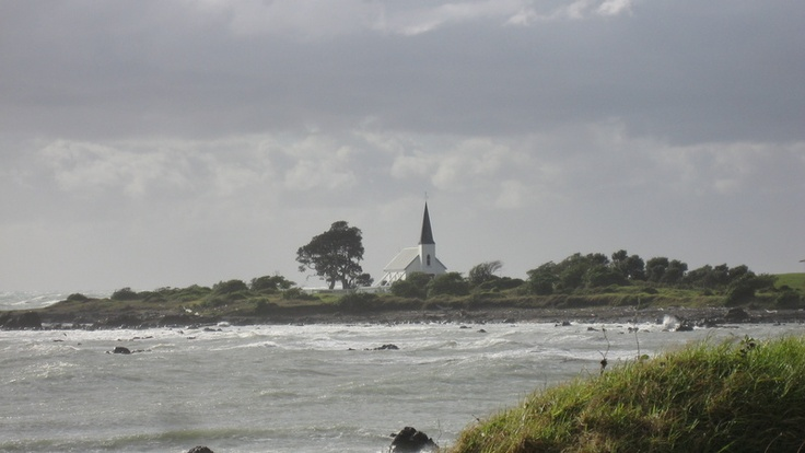 Cool church by the beach, East Coast, NZ