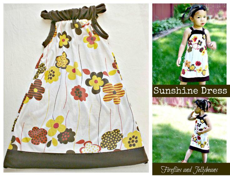 Sunshine Dress Tutorial: Fireflies, Dress Tutorials, Sewing Projects, Sunshine Dresses, Diy Tutorials, Baby Girls, Jellybean, Jersey Dresses, Girls Dresses Tutorials