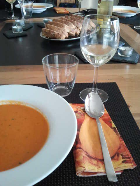 2013-09-28 Hopping Dinner Luzern - Vorspeise bei Giovanna & Beat.
